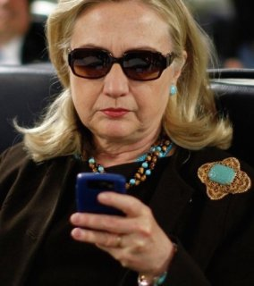 Hillary on cell